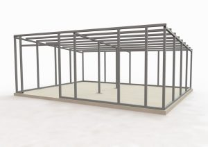 Проект металлического каркаса гаража