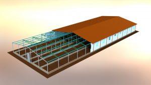 Визуализация быстровозводимого офисного здания