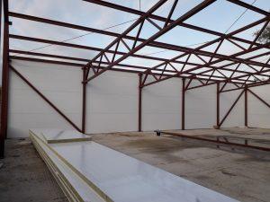 Подготовка панелей и монтаж стенового ограждения