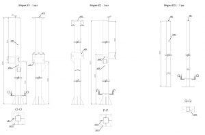 Проект металлических колонн