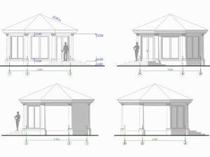 Архитектурный проект садовой беседки