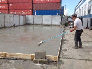 Приемка и укладка бетона монолитного фундамента