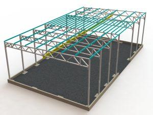 Проект металлического каркаса ангара с подкрановыми путями