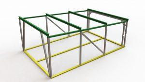 Проект каркаса металлического гаража