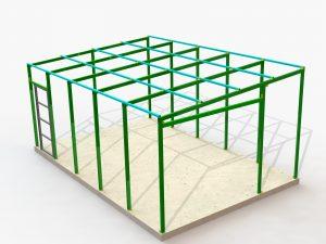 Компьютерная модель каркаса гаража
