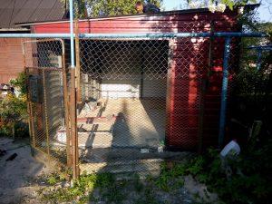 Воротный проем гаража под рольворота