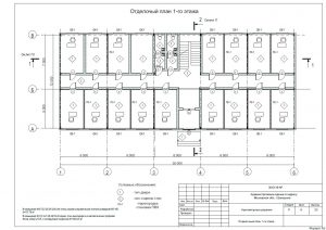 План первого этажа АБК